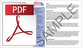 KEYS Sample PDF Button