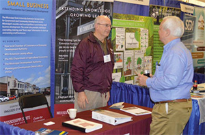 GCD's Hamp Beatty focuses on business development workshops and other programs. He also is on hand at conferences with information about Extension educational outreach for businesses. One of the stops during 2015 was the Mississippi Association of Conserv